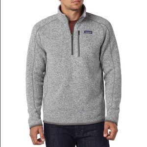 Patagonia Men's Better Sweater 1/4-Zip Fleece Grey